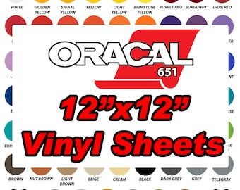 Oracal 651 Vinyl Sheets 12x12 Sheets Outdoor Adhesive Vinyl Sheets