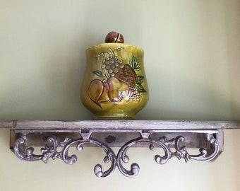 Vintage AVOCADO Los Angeles Pottery California USA Cookie Jar