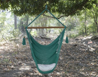 Pool Green Handmade Hammock Chair