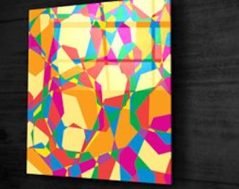 Table 140 x 140 plexiglass + dibond
