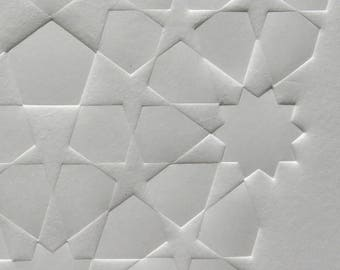 Golden Penta Tile Embossing