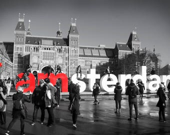 Iamsterdam Sign Canvas Photo