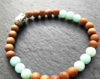 Yoga bracelet Sandalwood Amazonite