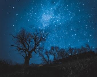8x8 Photo Print Stars at Night