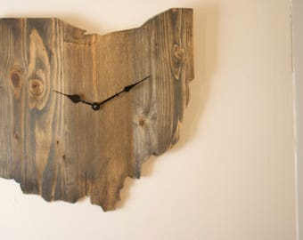 Ohio outline clock