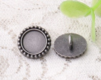light black buttons 10pcs 11*5mm small shirt suit buttons shank buttons round metal buttons laciness buttons