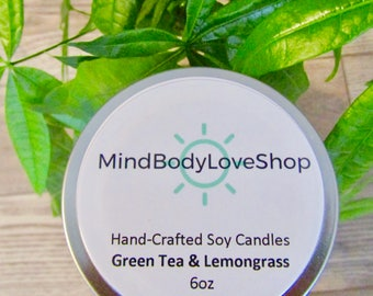Green Tea & Lemongrass Soy Candle