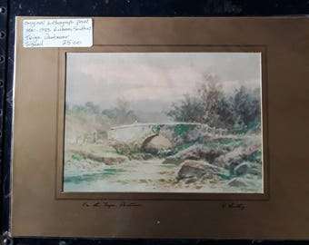 Vintage Original  signed Lithograph Rubens Southey
