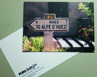 "Alpe d'Huez - Small Art Card/Postcard - 4""x6"" / 10x15cm"