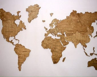 Rustic world map etsy wall map of the world map wooden travel push pin map rustic home wood wall art gumiabroncs Gallery