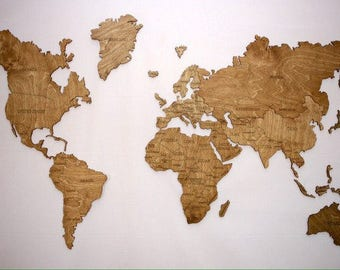 Wall Map of the World Map Wooden Travel Push Pin Map Rustic Home Wood Wall Art 5th Anniversary Gift for Husband Wife House Design