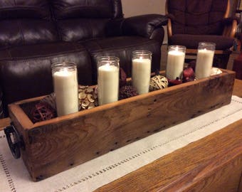Decorative reclaimed Wood Candle Holders