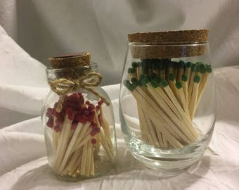 Small & Extra Small Match Jar with Striker