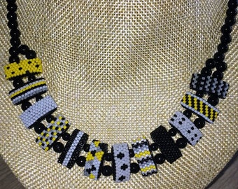 Yellow Grey necklace