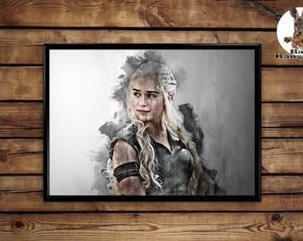 Khaleesi print Daenerys Targaryen wall art home decor poster