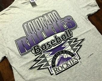 Vintage 90s Colorado Rockies T-Shirt size L