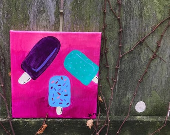 Popsicles -- Handmade Acrylic Painting