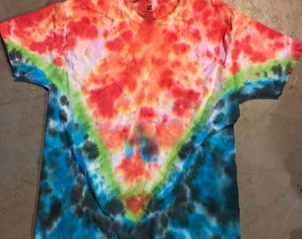 Fire and Ice V Tie Dye