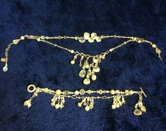 Beautiful Bracelet and Necklace Aurora Borealis set