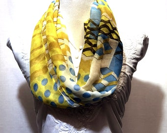 Digital printed designer scarf | summer collection | lightweight | handwoven