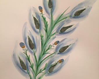 Watercolor plant painting