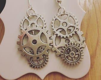 Steampunk earrings- handmade