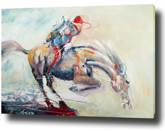 Canvas Wall Art Large Oil Painting On Canvas - The Diving Horse