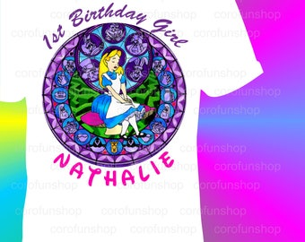 Disney Princesses T-Shirt Iron on Transfer w/FREE Personalization