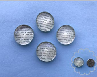 Book Print - Glass Gem Magnets
