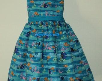 NEW Handmade Disney Finding Nemo/Dory Blue Jumper Dress Custom Size