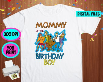 Scooby Doo. Iron On Transfer. Scooby Doo Printable DIY Transfer. Scooby Doo Mommy Shirt DIY. Instant Download. Digital Files Only.
