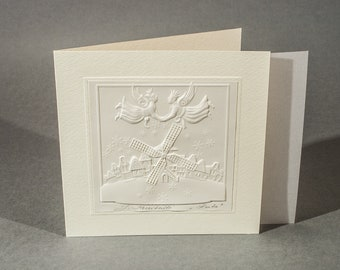 "Embossed graphic postcard ""Around"""