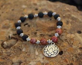 Lotus flower aromatherapy bracelet