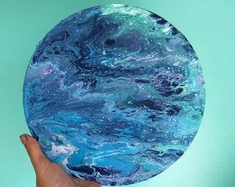 Wave Rider - Acrylic Fluid Painting