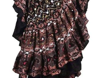 Chocolate Brown Truffle Tribal ATS 25 Yard Embroidered DIVA Sisha Gypsy Skirt~