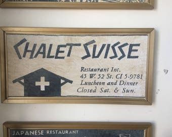 Retro Retired Restaurant boards by MD. Chalet Suisse