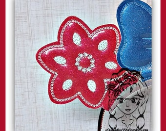 FLOWER LLR Pattern Ear (Add On  ~1 Pc) Mr Ms Mouse Ears Headband ~ In the Hoop ~ Downloadable DiGiTaL Machine Embroidery Design by Carrie