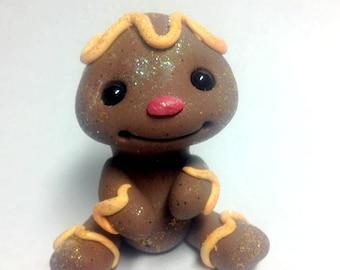 OOAK Orange Cremesicle Frosting Gingerbread Boy Cookie Trollfling by Amber Matthies
