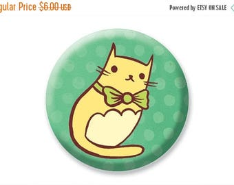 ON SALE Cat Bowtie Mirror / Cat Bow Tie Mirror / Cute Pocket Mirror Party Favor Cat Mirror