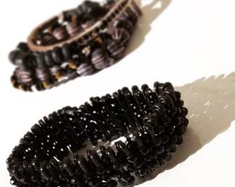Safety Pin Bracelet in Black
