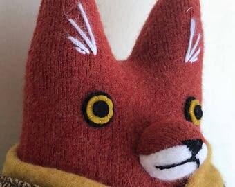 Fox Fellow Mushroom Hunter Chubby wool doll plush