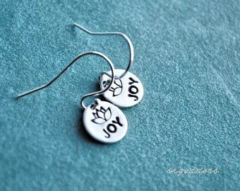JOY LOTUS all sterling silver tiny earrings by srgoddess