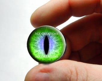 Glass Eyes - Green Purple Glass Eyes Eye Glass Taxidermy Doll Eyes Cabochons  - Pair or Single - You Choose Size