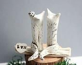 Fox Cake Topper Wedding  - Wedding Cake Topper Fox - Clay Foxes - Fox Cake Topper - Wedding Decoration - Wedding Gift - Animal Cake topper