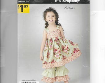 Simplicity Girls' Dress and Pants  Pattern 1533