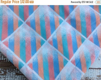 CRAZY SALE- Eighties Bed Sheet-Vintage Twin Flat Sheet-Retro