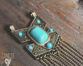 Fringe and Turquoise = DIY Jewelry