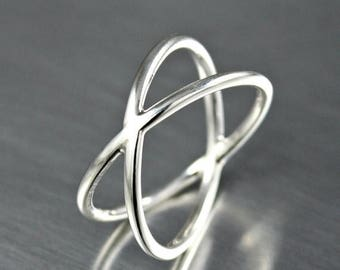 ON SALE TODAY Sterling Silver Criss Cross X Ring