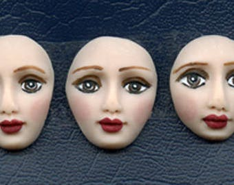 3 Fleshtone Polymer Detailed   Face Cabs Undrilled BDF 5