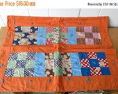50% OFF SALE vintage hand stitched doll quilt